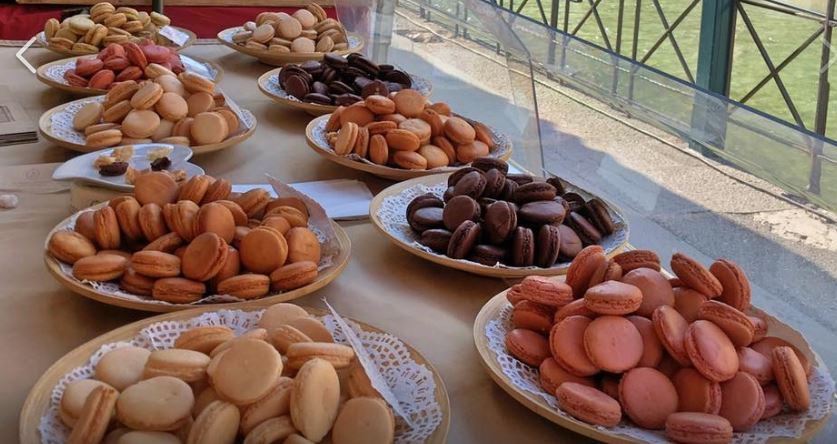 macaron artisanal sur le marché d