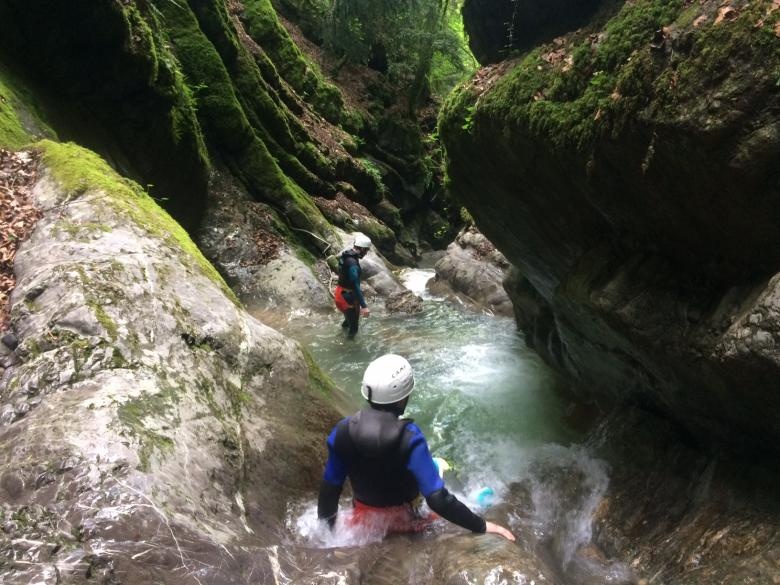 Canyoning lake Annecy