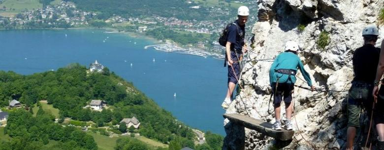 Via Ferrata lake Annecy